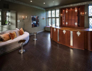 Photo illustrates leather flooring