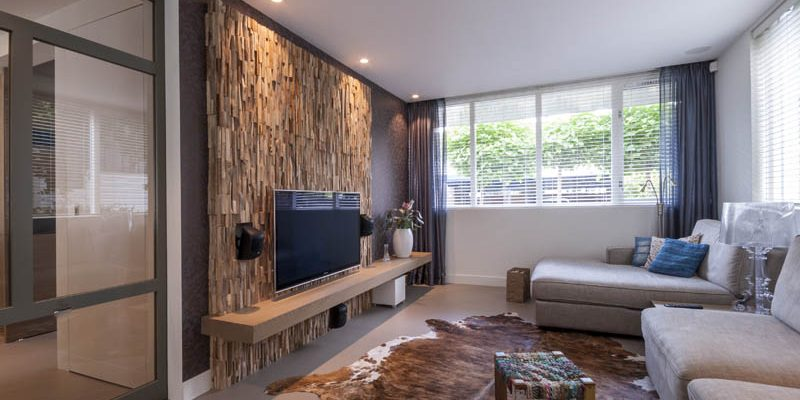 Room A Statement With Wood Wall Treatments, Wood Wall Living Room