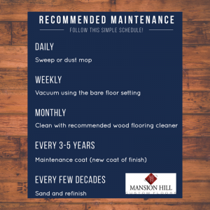 wood floor maintenance schedule