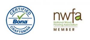 NWFA Member logo and Certified Bona Craftsman Logo